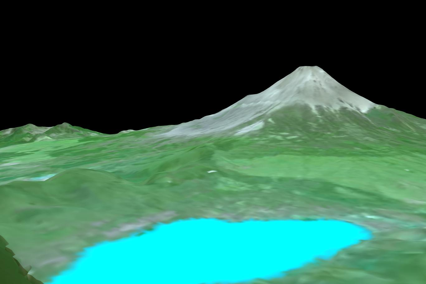 3Dモデル山