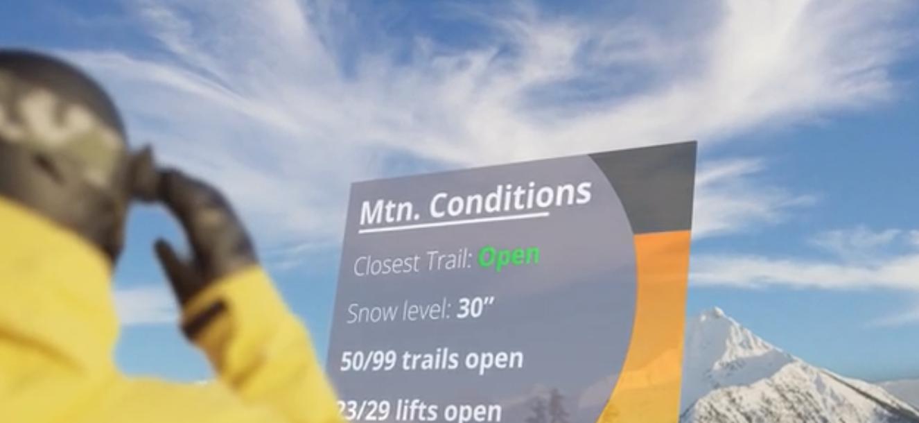スキー場のコンディションを表示