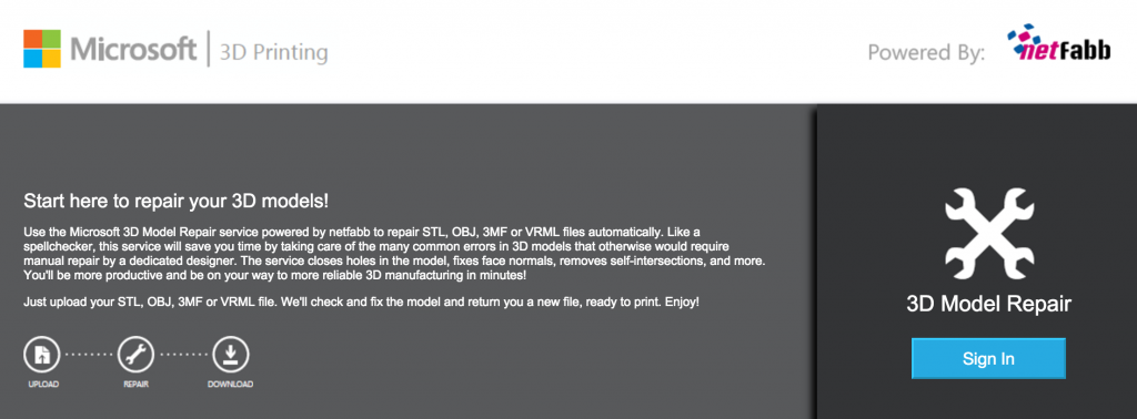 netfabbcloundeで簡単3Dデータ修正