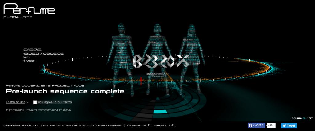 パヒュームの3Dデータ