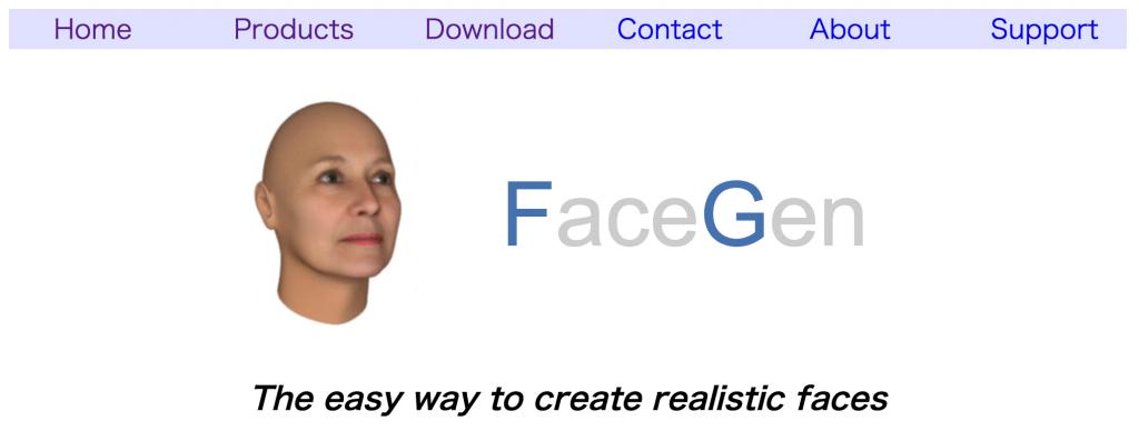 写真から頭の3Dデータを作れるソフト